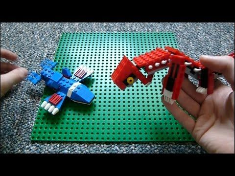 how to make a pokeball out of legos