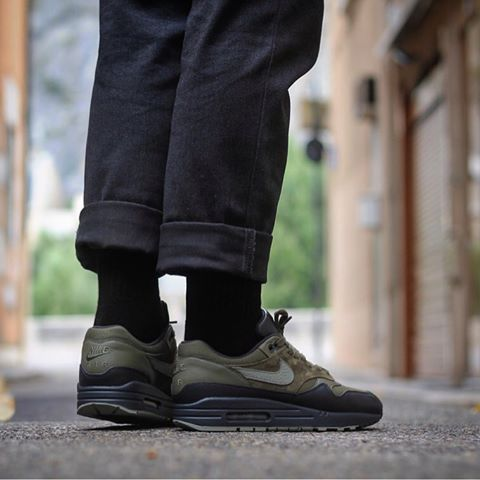 Nike Air Max 1 Premium MEDIUM OLIVEDARK STUCCO ANTHRACITE
