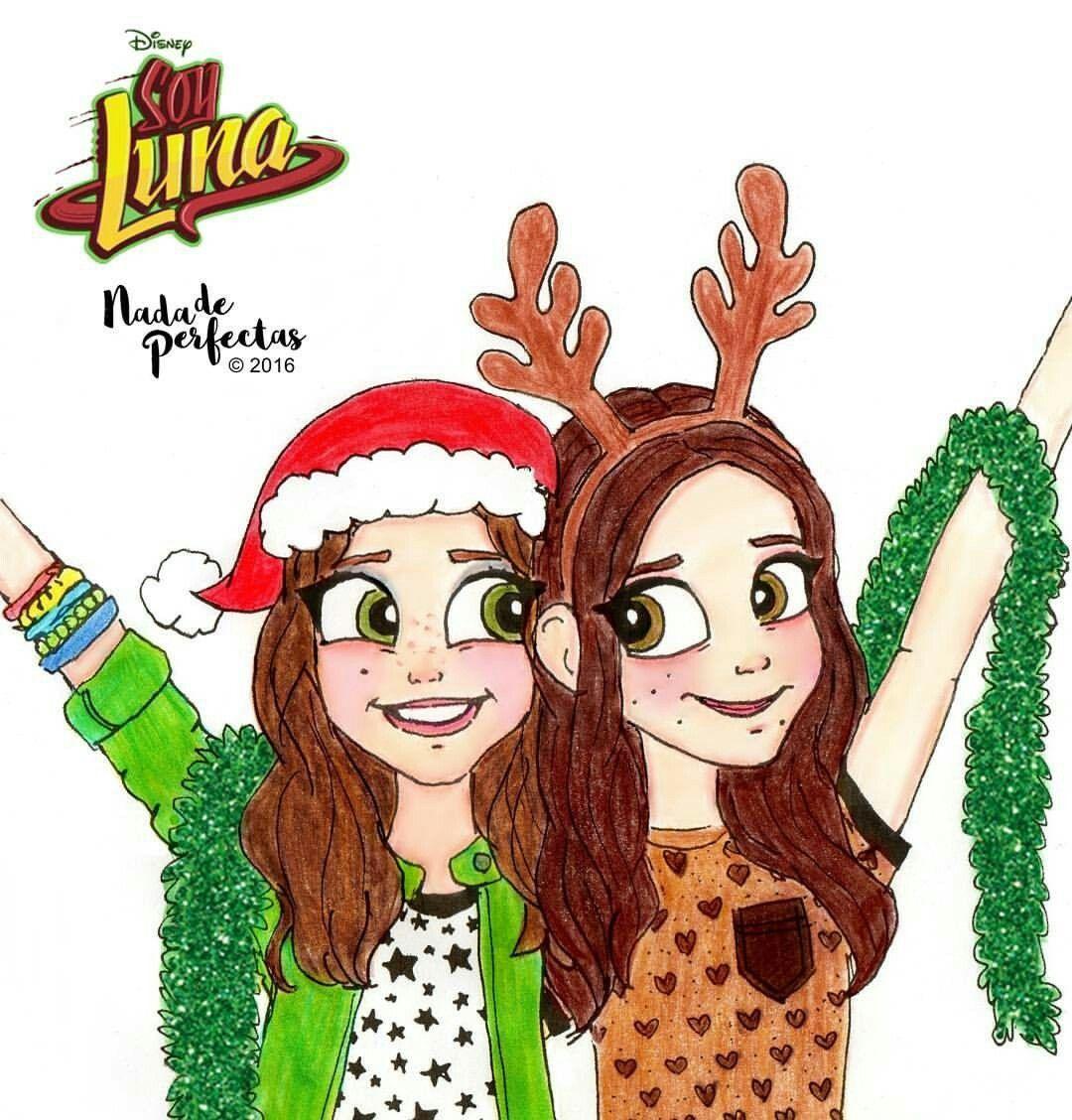 Carolina y Karol en Navidad - Desen cu Soy luna   Pinterest ...