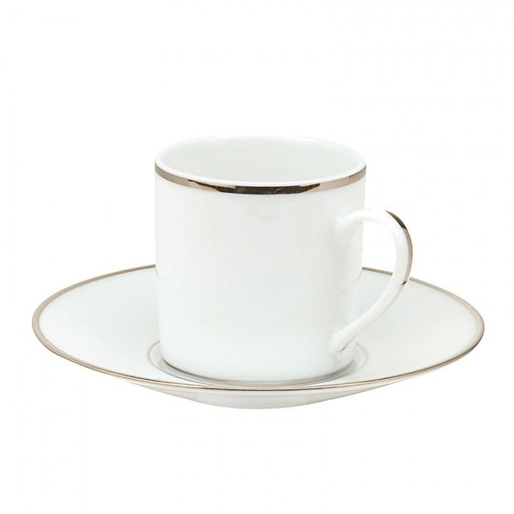 4d33188729 Christofle Albi Platinum Teacup and Saucer | Christofle | Tea cups ...