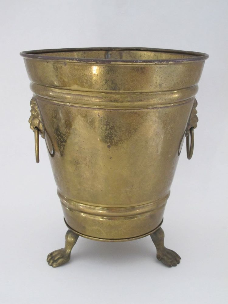 Vintage Antique Brass Champagne Ice Bucket Made In England