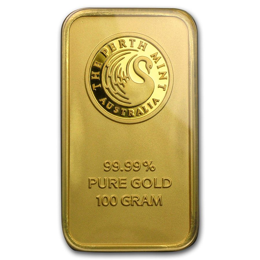 100 Gram Perth Mint Gold Bar For Sale The Perth Mint Gold Bullion Apmex Gold Bullion Bars Gold Bar Gold Bullion