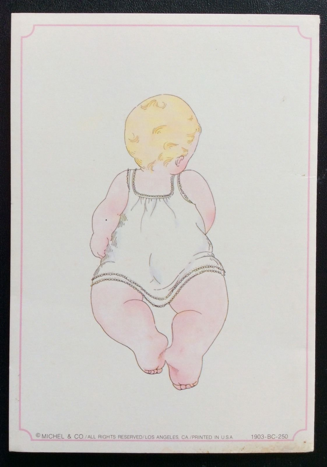 f278844230d5 Baby Comfort Paper Doll Greeting Card