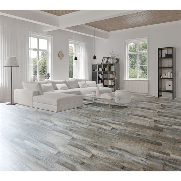 Floors For Main Room Kitchen Hallways Shop Goodfellow 10 Piece 7 08 In X 48 In Weathered Ba Luxury Vinyl Plank Luxury Vinyl Plank Flooring House Flooring