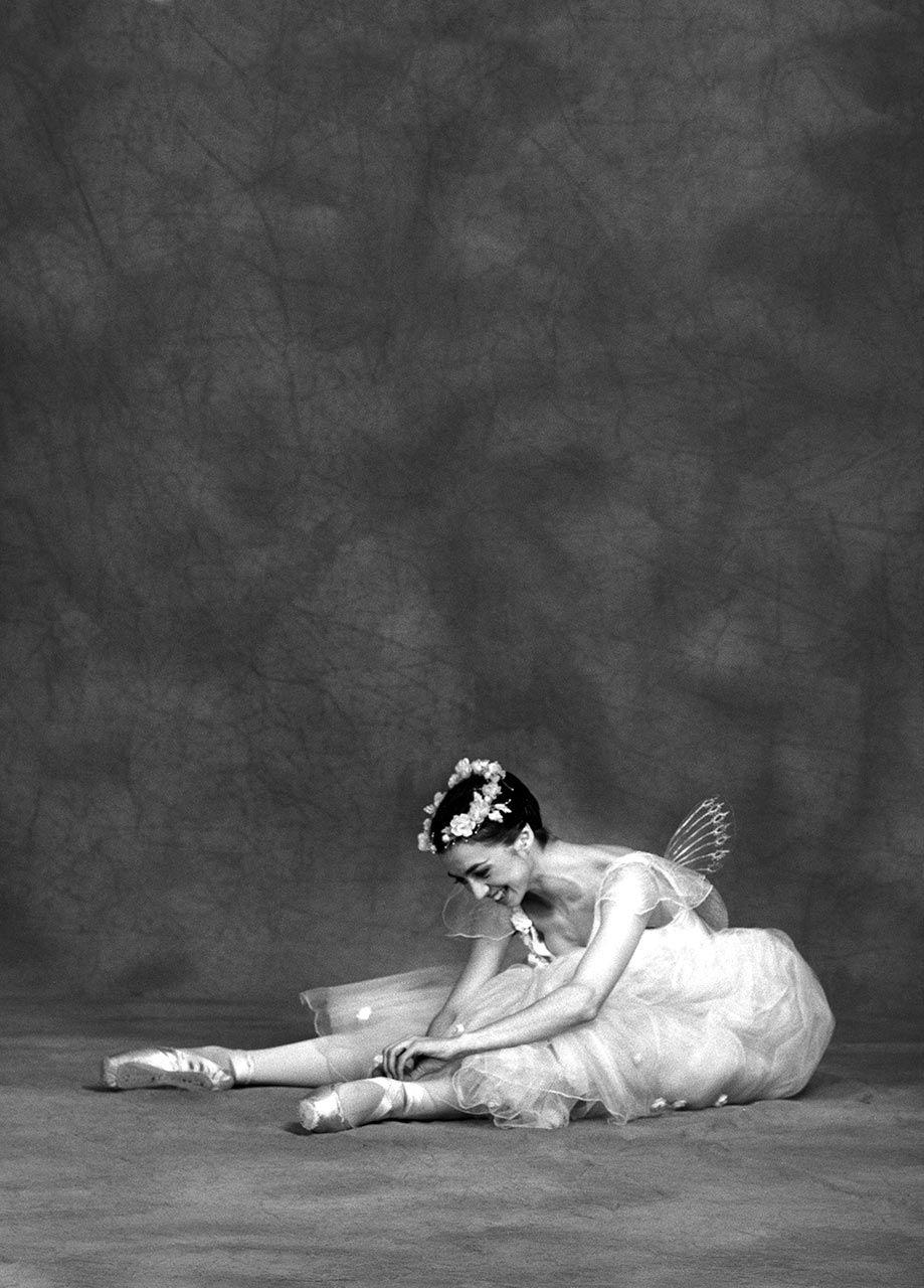 "Nina Ananiashvili in ""Les Sylphides."" Photo © Nancy Ellison."