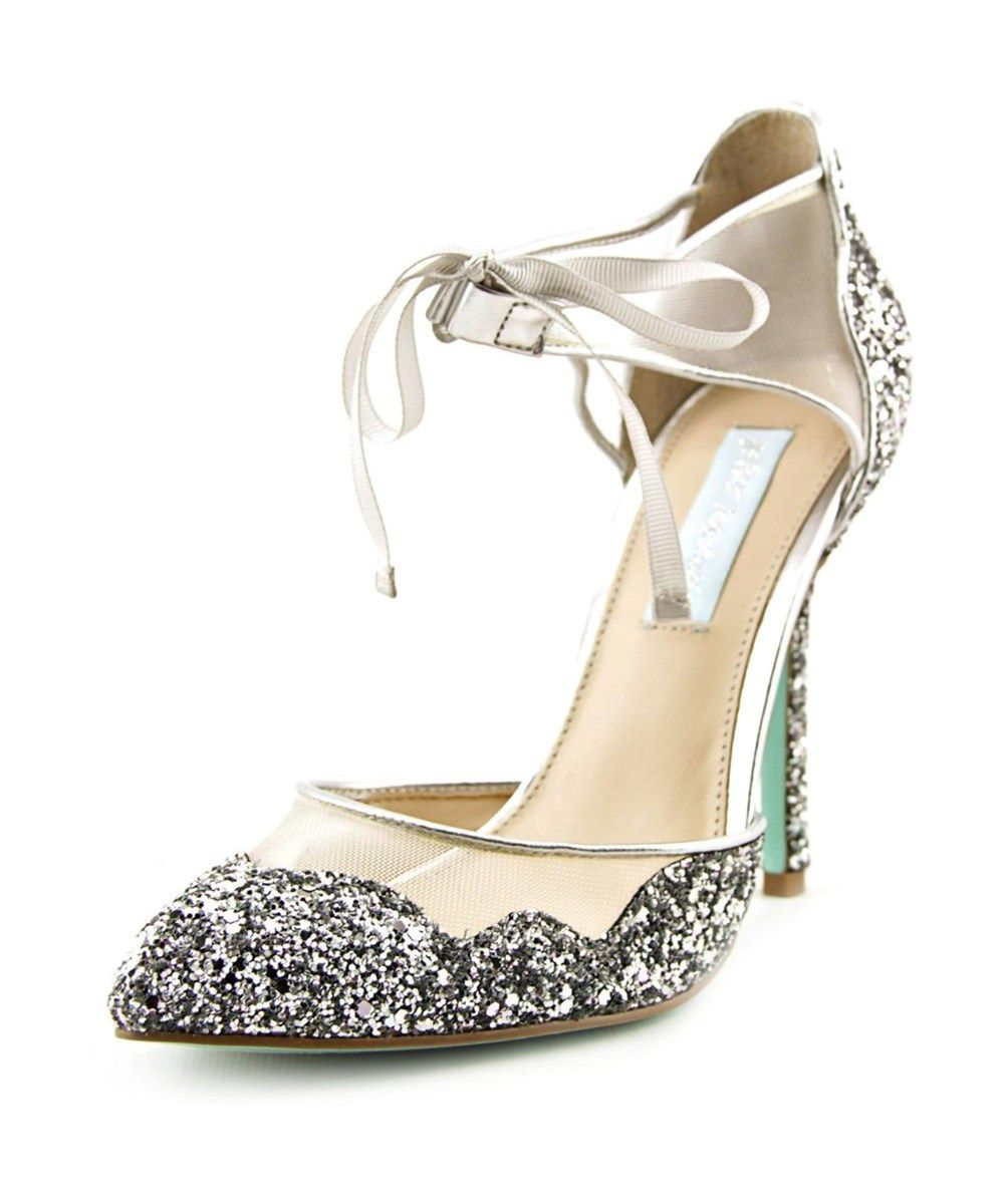 89dd49efcbf BETSEY JOHNSON Betsey Johnson Stela Women Pointed Toe Synthetic Silver Heels.   betseyjohnson  shoes