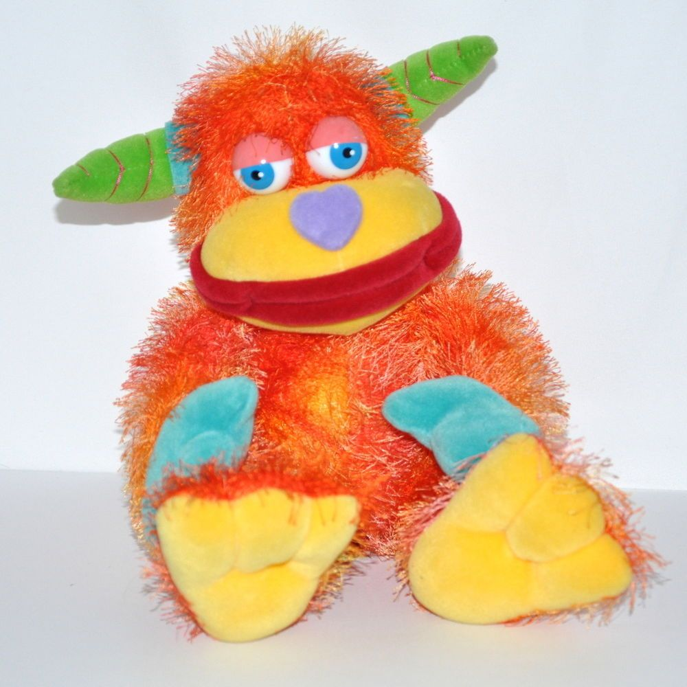 Aurora Monster Plush Doll Zonk Spikey Colorful Stuffed Animal 13