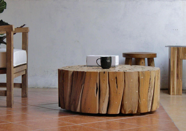 Bega Möbel teak couchtisch bega rund teakholz driftwood schwemmholz massiv
