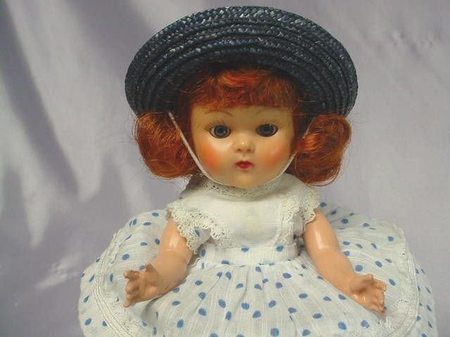 VOGUE Ginny 1953 Strung Auburn Doll  Tagged Donna Outfit SWEET #Vogue