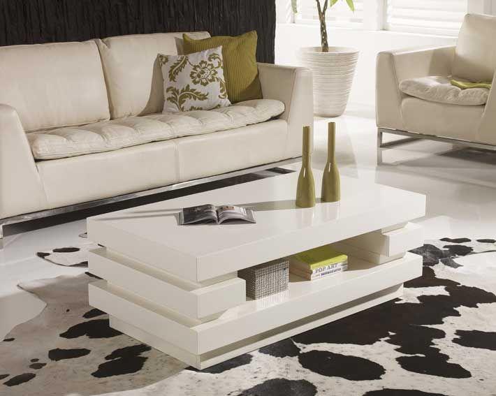 Mesa Centro Lacada Blanco Roto Interior Design Living Room Center Table Furniture