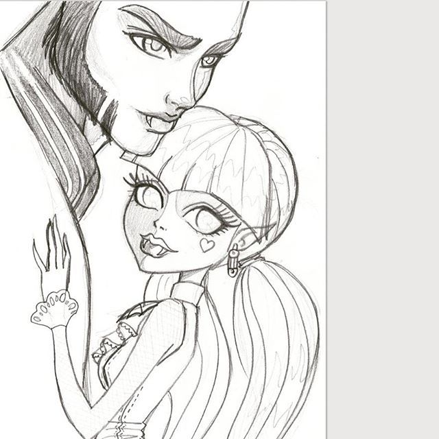 how to draw draculaura and clawd
