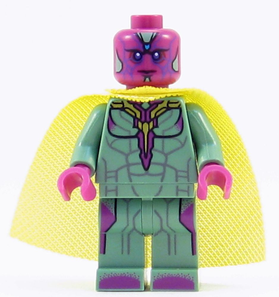Lego Vision Minifigure From Set 76103 Infinity War Corvus Glaive Thresher Attack Lego Marvel Super Heroes Lego Marvel Star Wars Minifigures