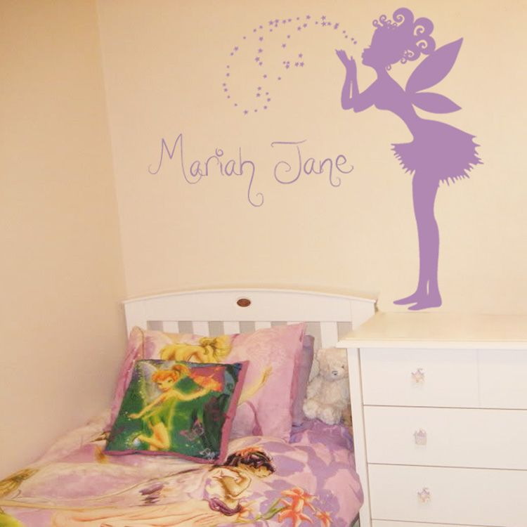 Magical Fairy Making A Wish   Personalized Monograms U0026 Names   Wall Decals