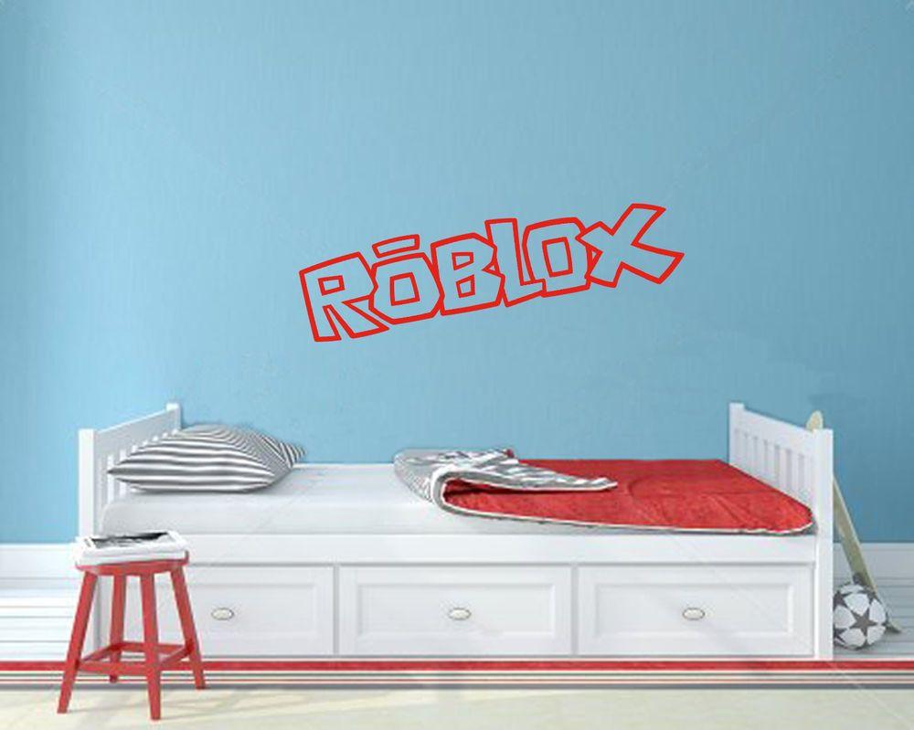 Roblox Room: Vinyl Cut Wall Sticker Roblox Boys Bedroom Poster