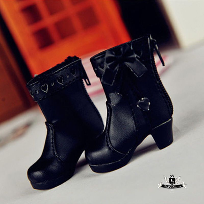 Yosd Shoes 1//6 BJD Shoes Dollfie DIM Lolita black student Shoes Luts DOD AOD MID
