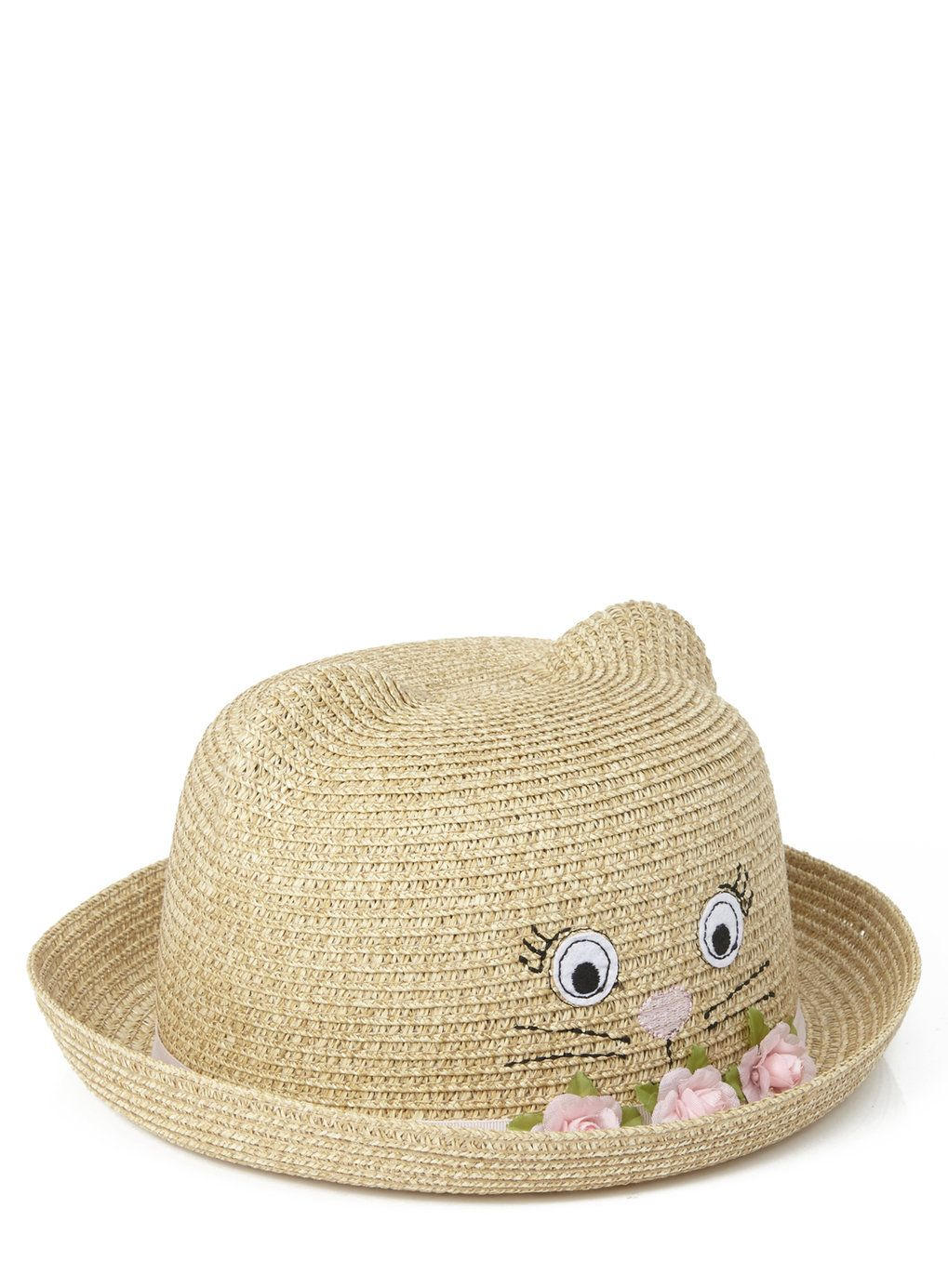 18c8d39d90a Girls Cat Straw Bowler Hat - Kids Sunglasses   Accessories - Holiday Shop -  BHS