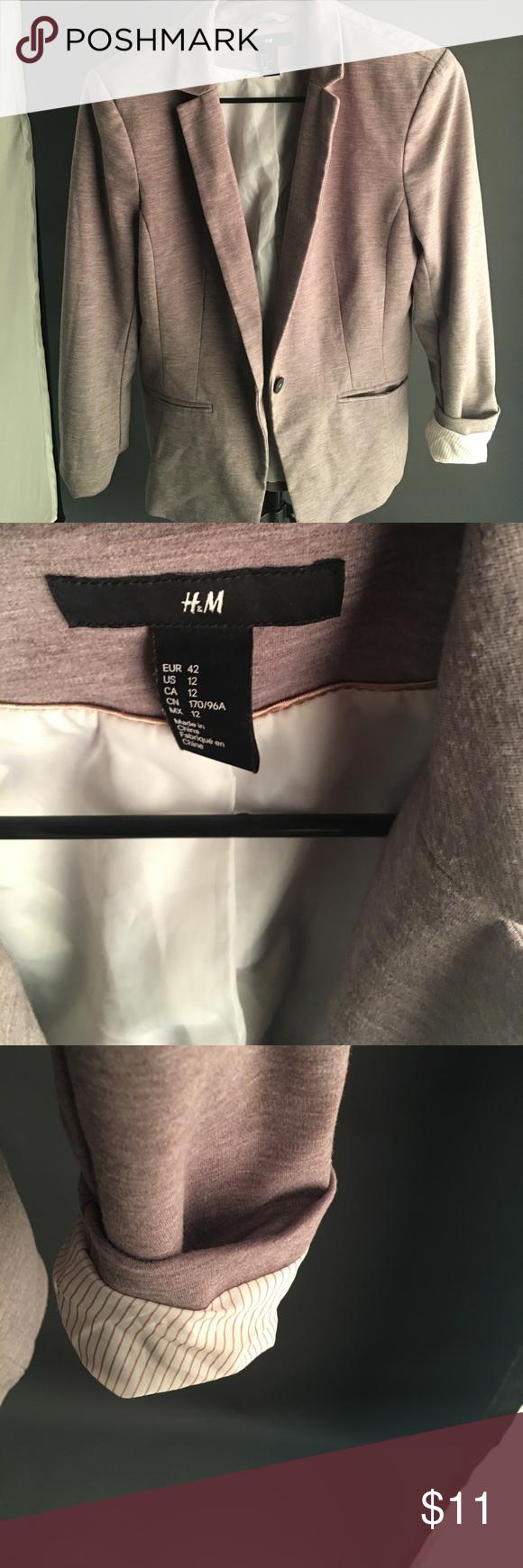Knit blazer Good condition H&M Jackets & Coats Blazers