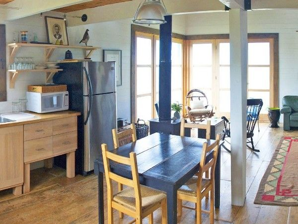 860 Sq Ft Oceanside Cottage In Cape Breton Island Contemporary Cottage Cottage Small Living