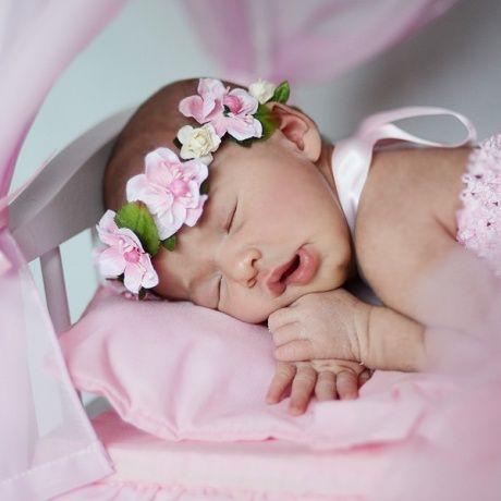 Corona flores con cinta el stica para beb s preciosas coronas diademas de flores con cinta - Diademas para ninas ...