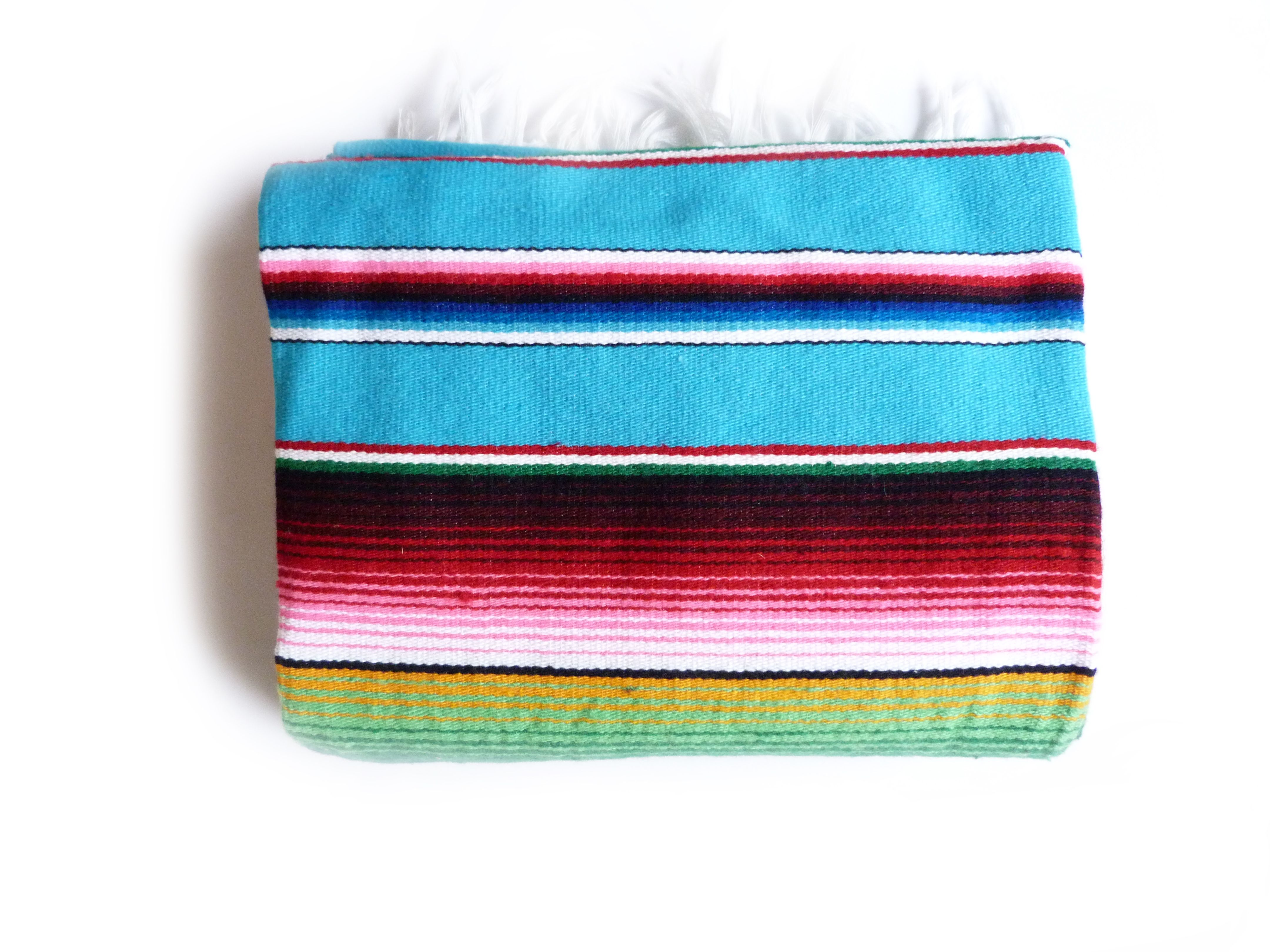 Saltillo Blau Mexiko Decke Mexican Blanket Picknick Deko Mexico