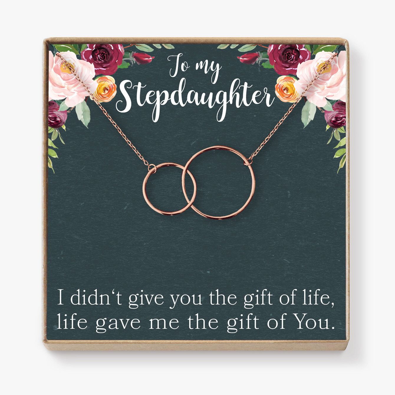 Stepdaughter Gift Necklace: Gifts From Stepmom, Stepsister