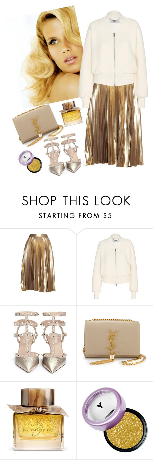 """""""Untitled #521"""" by avazova-aida ❤ liked on Polyvore featuring Consuelo, A.L.C., STELLA McCARTNEY, Valentino, Yves Saint Laurent and Burberry"""