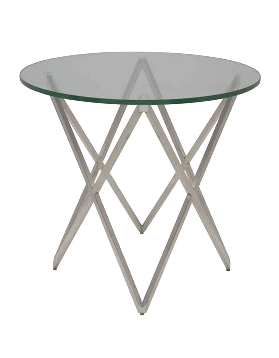 Modern glass end table  Home  Furniture  Lattice Side Table  Hudsonus Bay  Acrylic