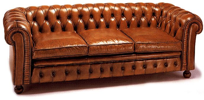 sofa chester cuero capitone leather sofa chester