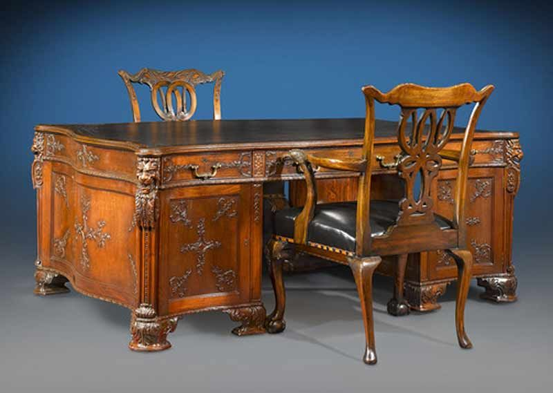 Partners Desk | S. J. Waring and Gillows | Antique Desk | Unique Desk - Partners Desk S. J. Waring And Gillows Antique Desk Unique
