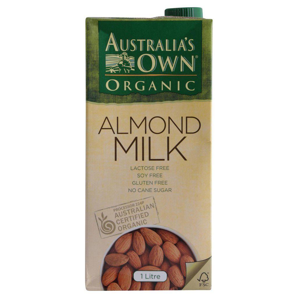 Australias own almond milk 1l organic almond milk