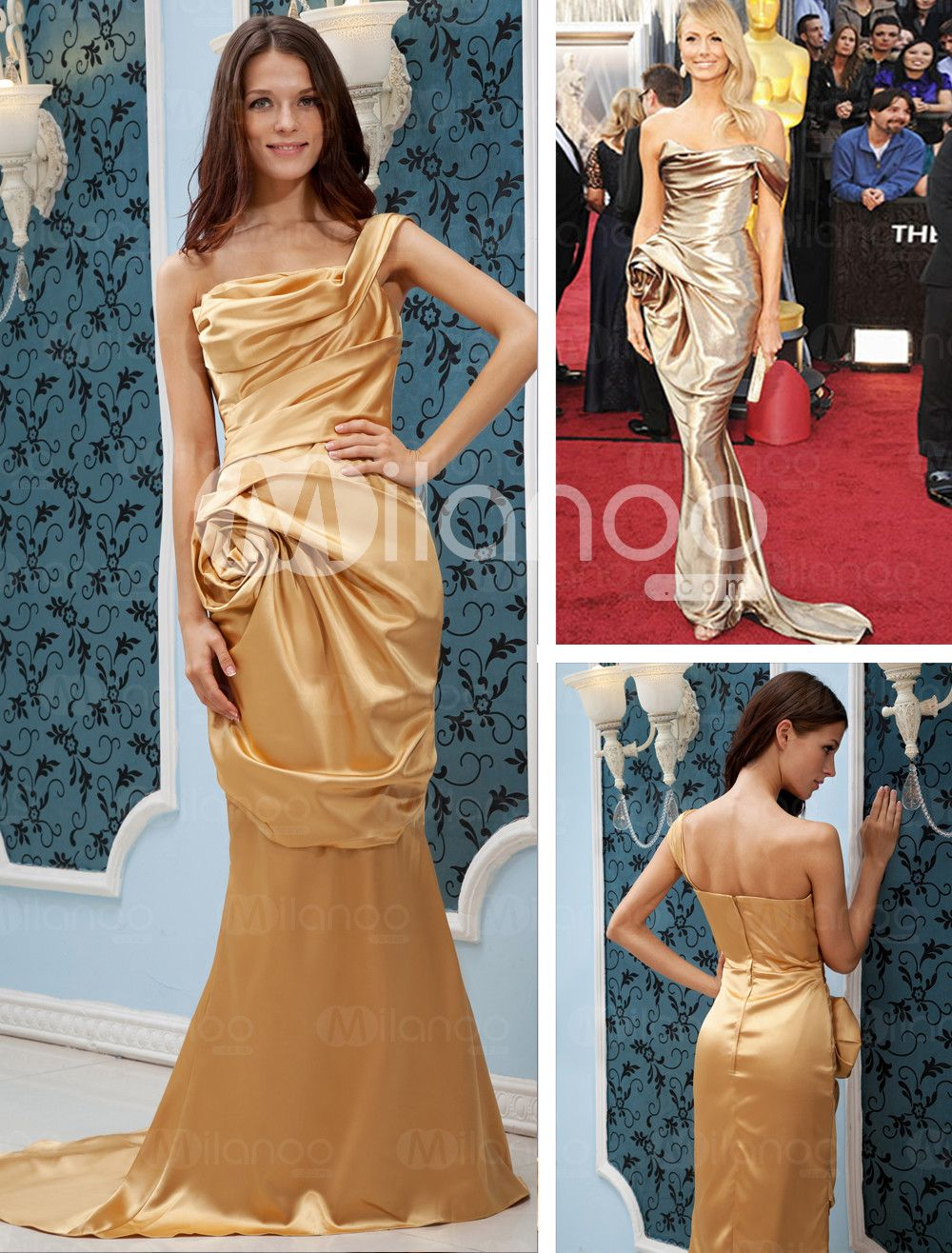 knockoff-I'm not sure why chinese factories manage to find the tackiest shades of satin, almost like a mission.  One of the commentators said he ordered it for a girlfriend, hope she likes wearing a pink gold garbage bag