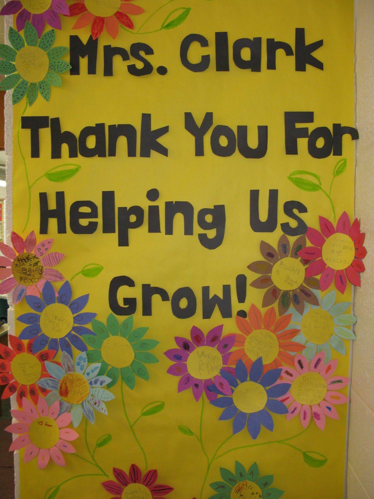 teacher appreciation door decorating ideas | Teacher\'s File Cabinet ...