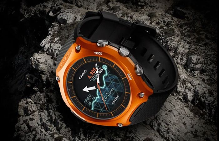 423d1551389 The new Casio WSD-10 Android Wear Smartwatch is built with the outdoors in  mind.. Check out its features