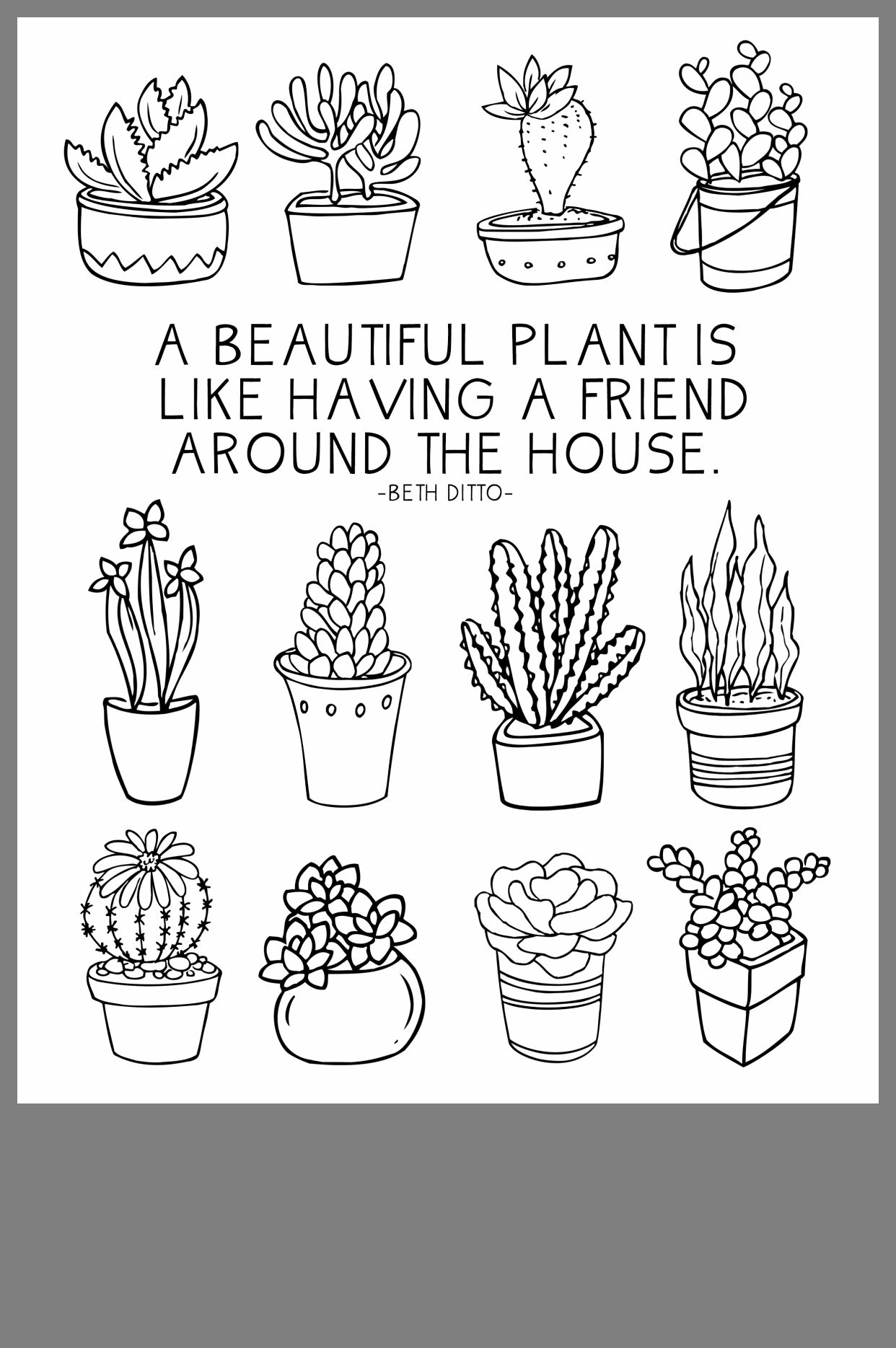 Pin By Sophie Shimek On Crafts Plant Doodle Cactus Drawing