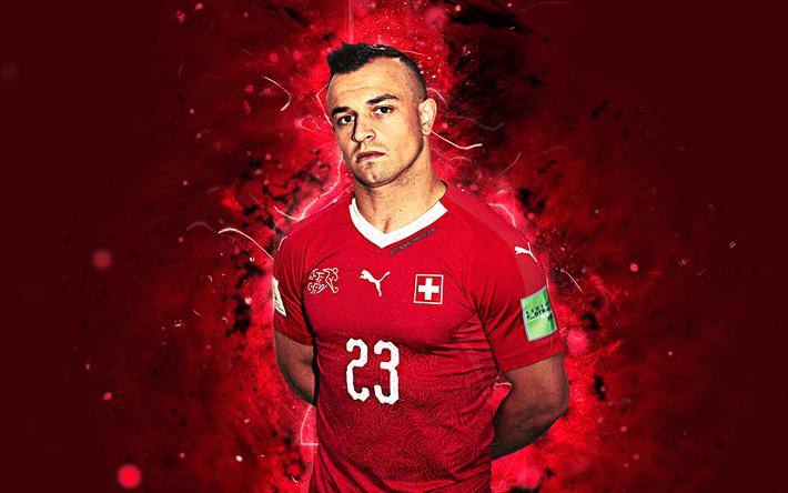 Download Wallpapers 4k Xherdan Shaqiri Abstract Art Swissland National Team Fan Art Shaqiri Soccer Footbal Football Team National Football Teams Fan Art