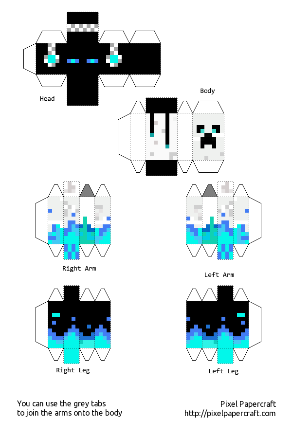 My skin in papercraft (easier) | Papercraft minecraft skin ...