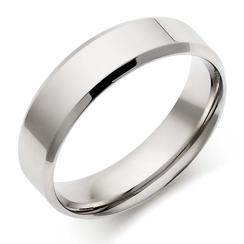 Matte Classic Wedding Ring in Platinum (5mm) | Blue Nile