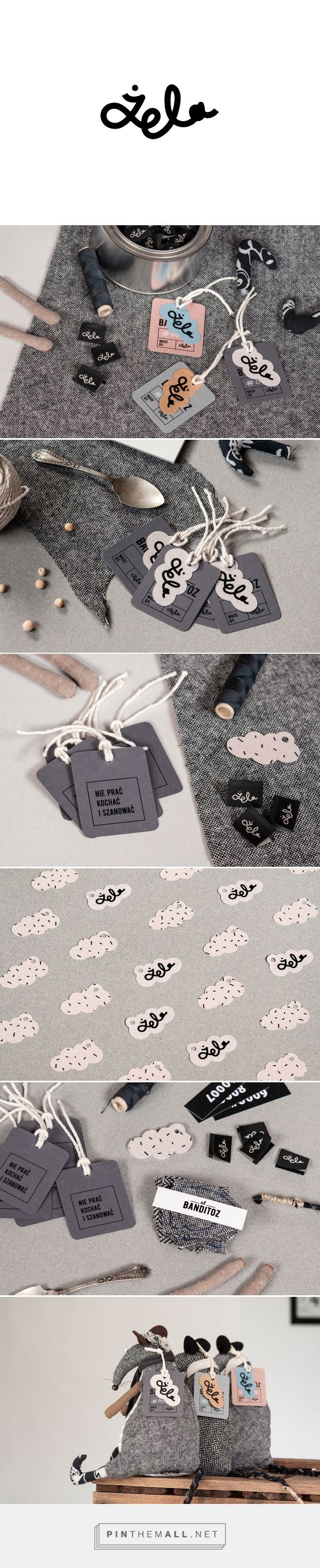ŻELA   branding on Behance by Wel, Gdańsk, Poland curated by Packaging Diva PD.  The cutest handmade toys, tags and labels. Branding, Graphic Design, Toy Design.