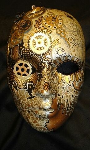 Creative expression to be at one with technology. Not animal mask, but machine-mask.