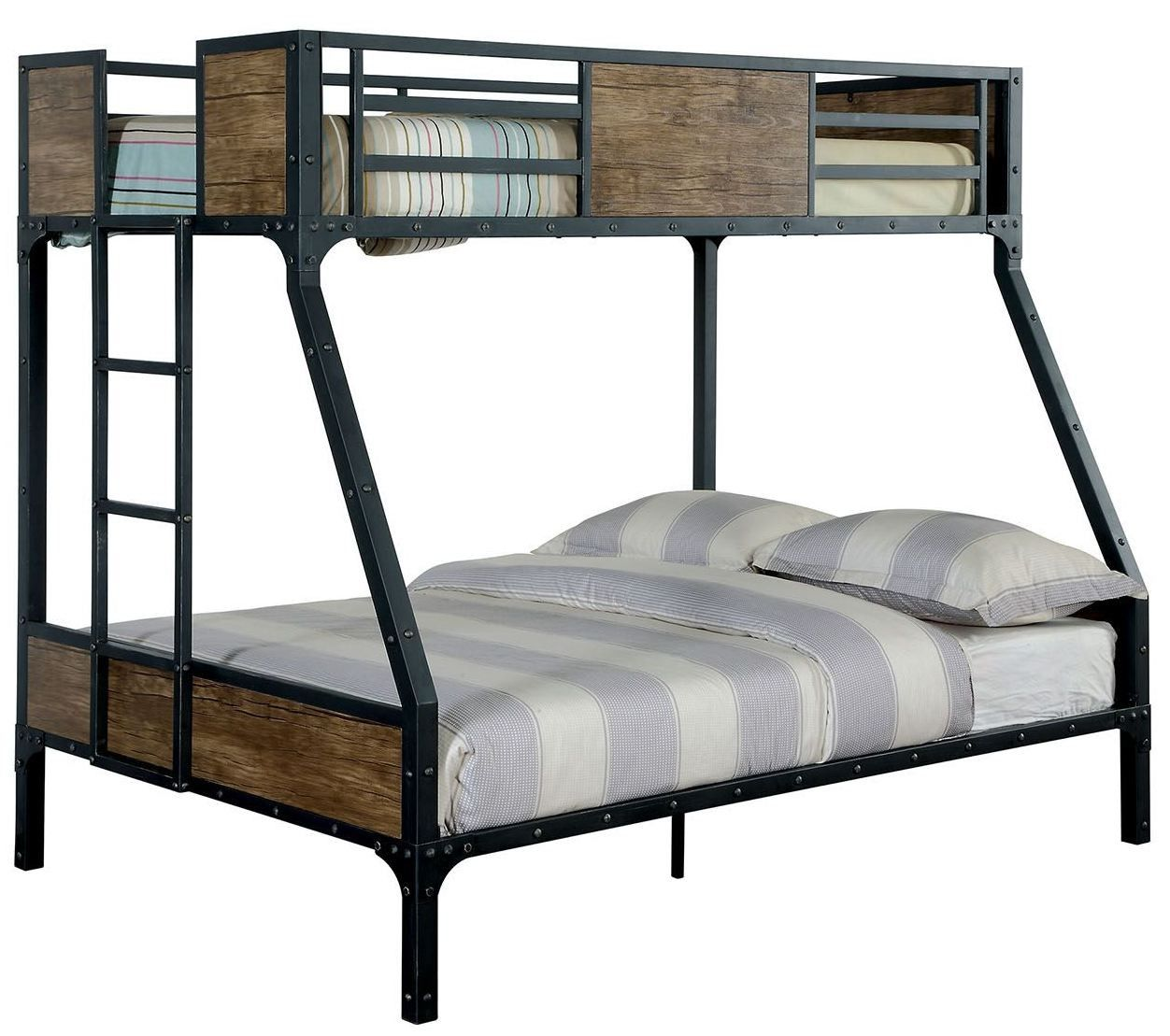 Clapton Twin Over Full Metal Bunk Bed Espacos Pequenos Design
