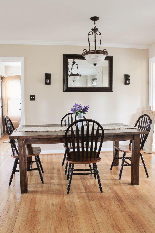Farmhouse Table DIY with Removable Legs Farmhouse table