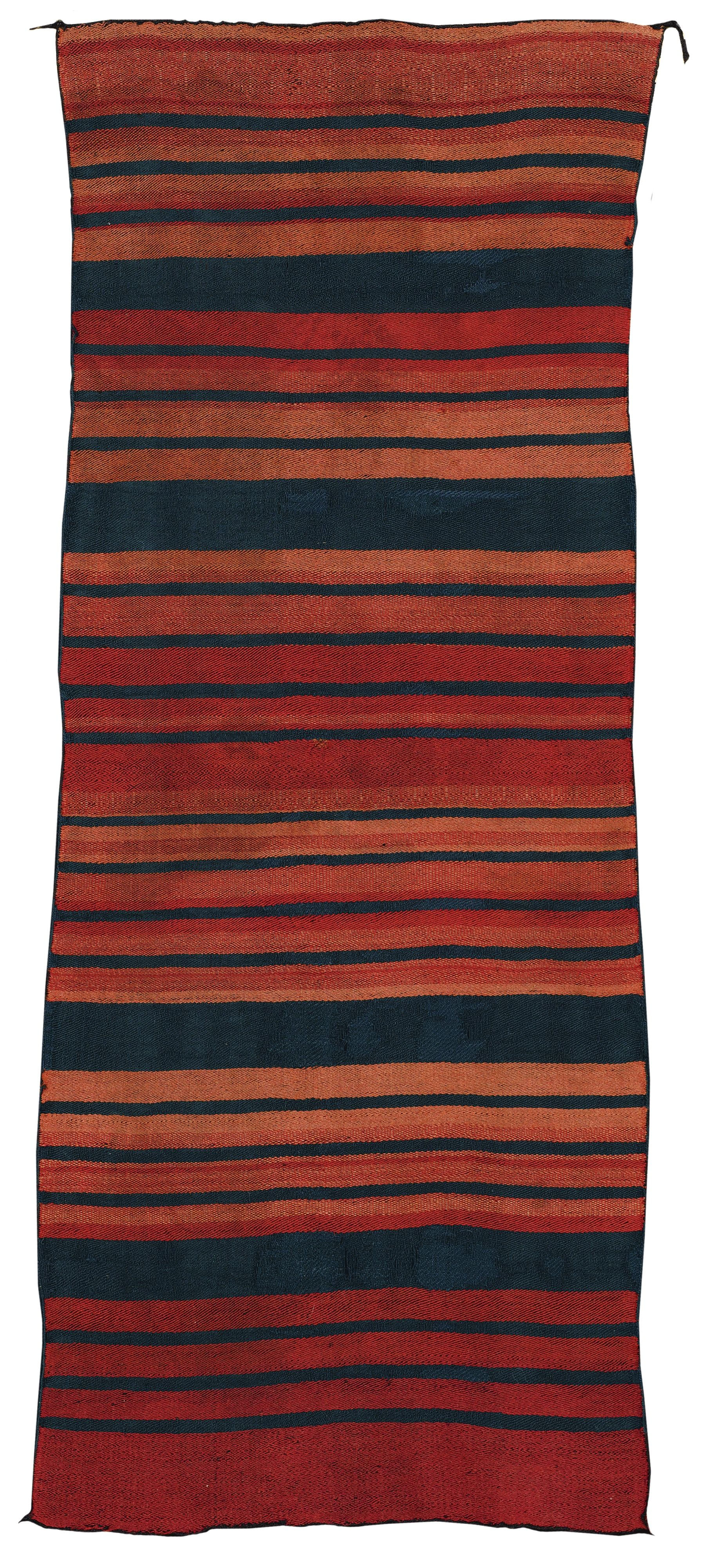 Classic Pueblo Blanket Probably Acoma Finely Twill Woven In Handspun And Ravelled Bayeta Wool In Shades Of Lac Navajo Weaving Navajo Rugs Indian Blankets