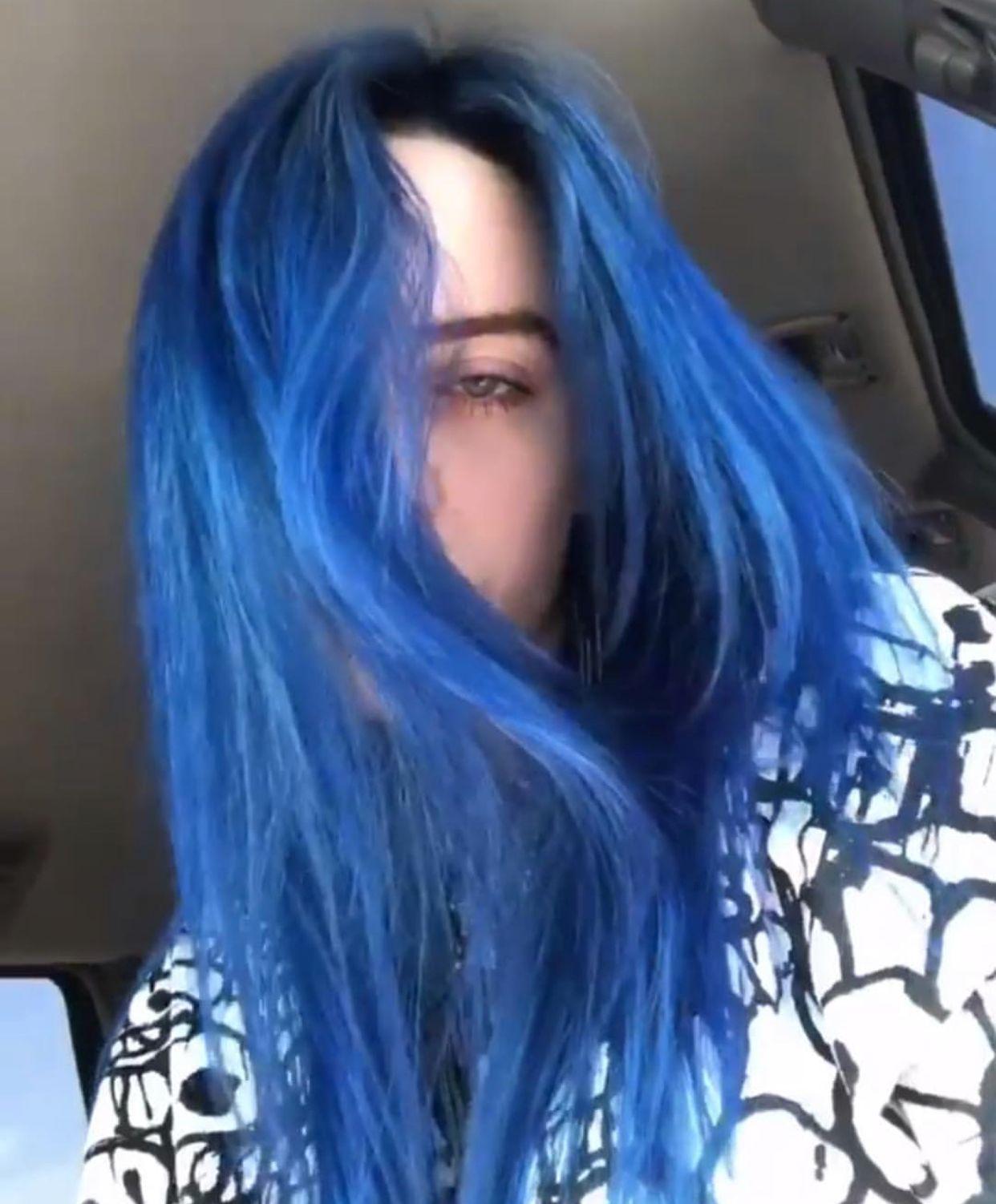 Blue Hair By Billieaches On Billie Billie Hair Styles