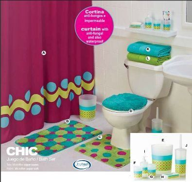 Limited Edition Chic Complete Bathroom Set With Accessories 12 Piece For More Information