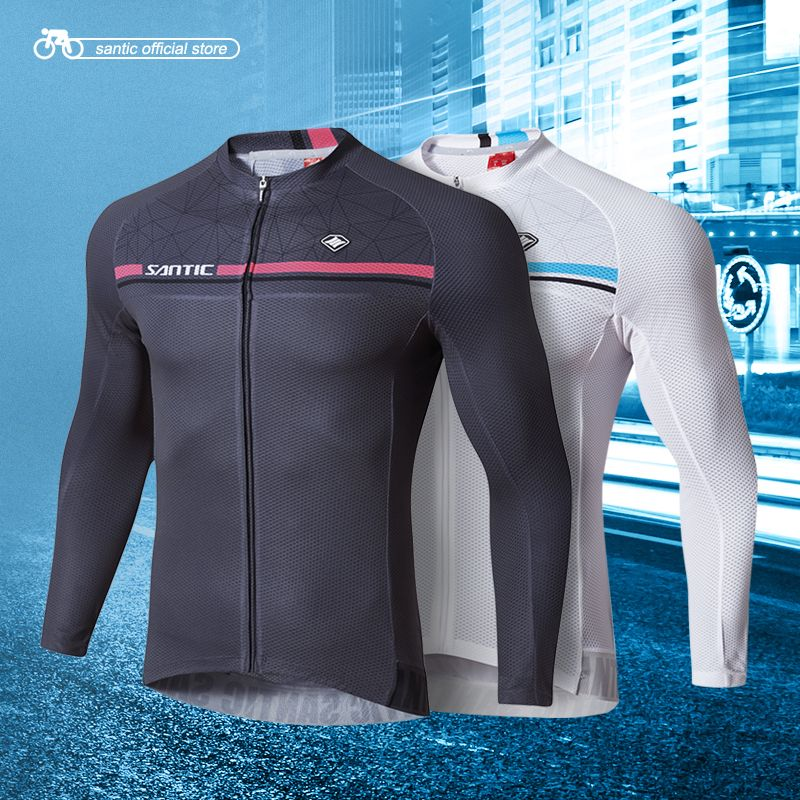 Santic Men Long Sleeve Cycling Jerseys Pro Fit Road Bike MTB Top Jersey  Spring Summer Cycling Clothings WM7C01079 - Check Best Price for Santic Men  Long ... 17ee1a905