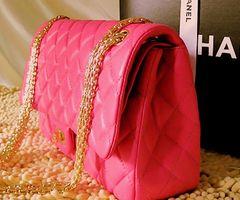 Chanel, bag, pink