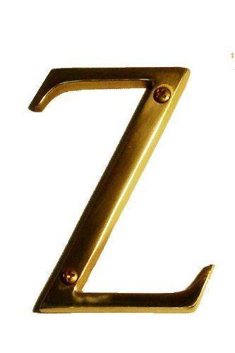 Brass Accents I07 L91z0 609 Antique Brass Address Letters Traditional 4 Letter Z I07 L91z0 By Brass Accents 11 78 Traditional 4 Letter Z