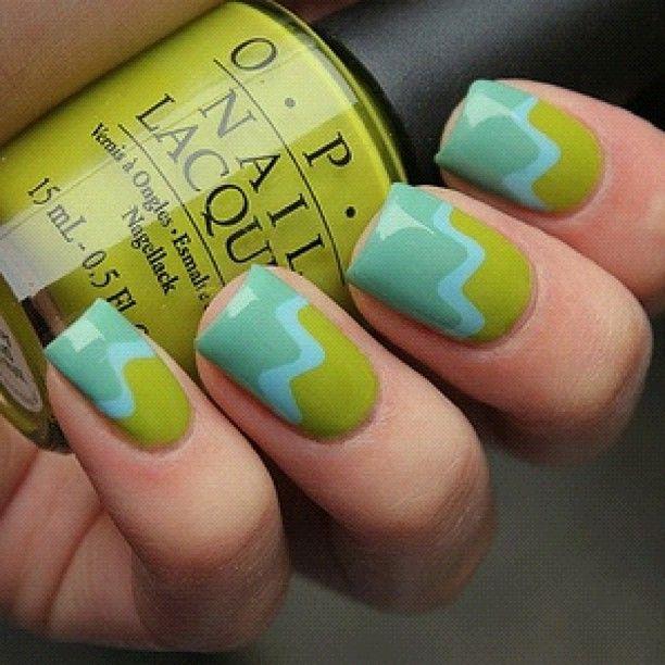 Pin de acco en ネイル | Pinterest | Uñas verdes, Uña decoradas y ...