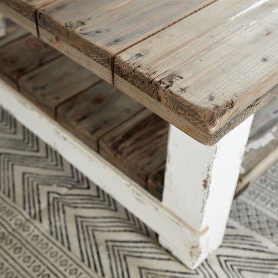 Table Basse En Bois De Pin Recycle 140 Atlantic Table Basse Bois Table Basse Et Meuble En Pin