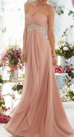 huge discount 48760 c804a Un bellissimo abito rosa confetto con sontuosi brillanti ...
